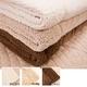 マイクロファイバーぬくぬく2枚合わせ毛布(ボリュームタイプ) シングル ブラウン - 縮小画像2