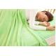 ふっくらマシュマロタッチ マイクロファイバー毛布&敷きパッドセット シングル グリーン - 縮小画像2