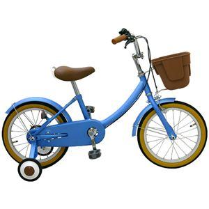 子供用16インチ自転車 /補助輪付き ブルー - 拡大画像