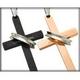 ステンレス製リング×クロスネックレス ダイヤ付 ブラック - 縮小画像4