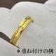 ステンレスリング ダイヤモンドカット細身リング ゴールドカラー 5号 - 縮小画像3
