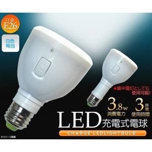 停電時の照明として 懐中電灯にもなるLED充電式電球 E26対応 3.8W - 拡大画像