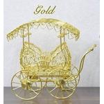 アンティーク風ミニチュア馬車型ディスプレイ ゴールド ゴシックデザイン