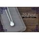 大粒キュービックジルコニアティアドロップ シルバーネックレス 4月誕生石 - 縮小画像1