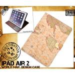 iPad Air 2用ワールドデザインケース 世界地図柄
