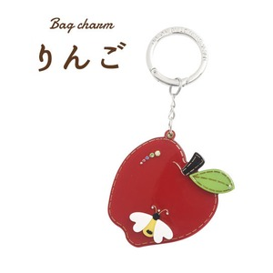 【2個セット】バッグチャーム りんご(レッド) - 拡大画像