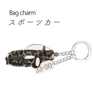 【2個セット】バッグチャーム スポーツカー(レオパード) - 拡大画像