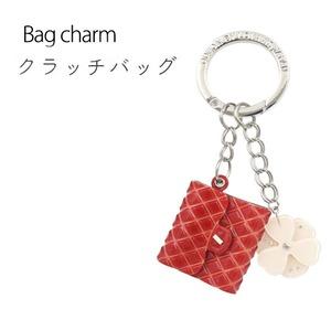 【2個セット】バッグチャーム ミニバッグ(レッド) - 拡大画像