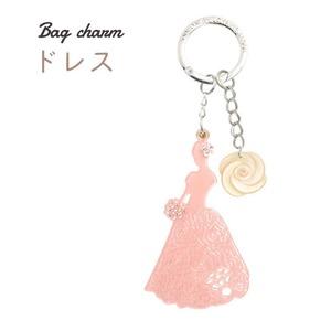 【2個セット】バッグチャーム ドレス(ピンク) - 拡大画像