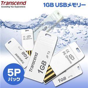 Transcend 1GB USBメモリー T3(5Pパック) - 拡大画像
