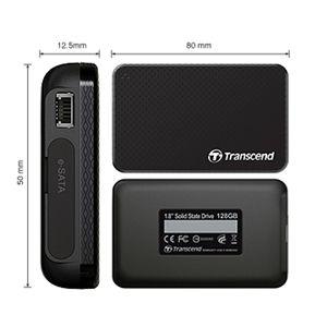 Transcend(トランセンド) 1.8インチ ポータブルSSD TS128GSSD18M-M 128GB - 拡大画像
