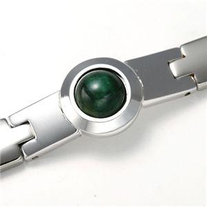 タイガーアイクリーンブレスレット グリーン 205mm - 拡大画像