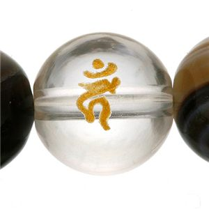 タイガーアイ梵字ブレス(ユニセックス) レディース/酉 - 拡大画像