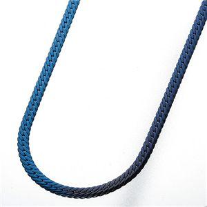 純チタン ヘリンボーンネックレス ブルー - 拡大画像
