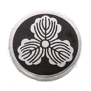 家紋カフス 4/丸に三つ柏 - 拡大画像