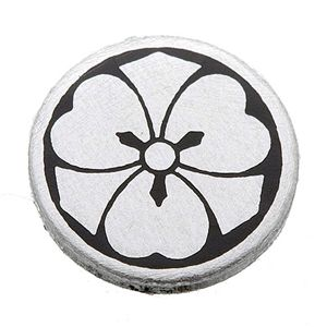 家紋カフス 7/丸に剣片喰 - 拡大画像