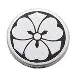 家紋カフス 7/丸に剣片喰