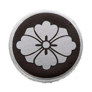 家紋カフス 52/丸に剣花菱 - 拡大画像