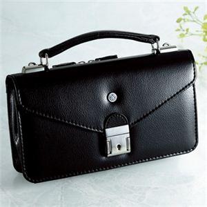 【日本製】家紋付 礼装多機能バッグ (小) 鍵付◆丸に三つ葵 backs-56 - 拡大画像