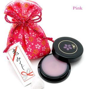 艶桜リップグロス (巾着のカラー:ピンク) - 拡大画像