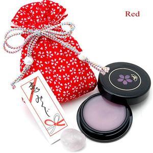 艶桜リップグロス (巾着のカラー:赤) - 拡大画像