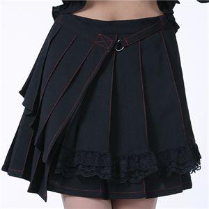 ロリータスカート 黒/赤 M - 拡大画像