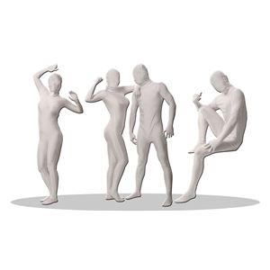 【コスプレ】 透明人間 パンテックス 白 L 4571142460275 - 拡大画像