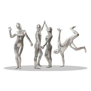 【コスプレ】 透明人間 コーティング 銀(L) 4571142460190 - 拡大画像
