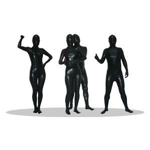 【コスプレ】 透明人間 コーティング 黒(L) 4571142461630 - 拡大画像