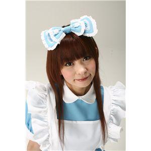 Alice'sフリルリボンカチューシャ 水色 - 拡大画像