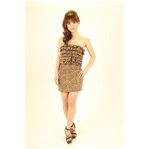 【コスプレ】 ナイトドレス フリルワンピ豹柄 - 拡大画像