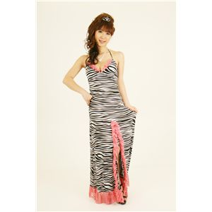 ナイトドレス ゼブラ ピンク - 拡大画像