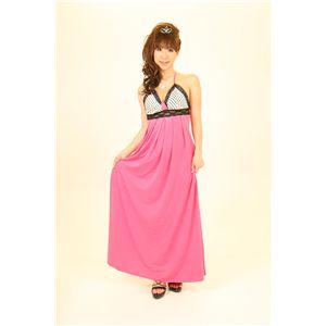 ナイトドレス 水玉 紫 - 拡大画像