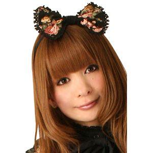 【コスプレ】 Cream doll ブラックブルームカチューシャ×2個 4560320825517 - 拡大画像