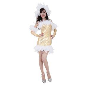 【クリスマスコスプレ】フェザーブライトドレス Ladies 4560320827559 - 拡大画像