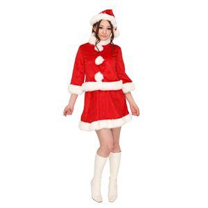 クリスマスコスプレ ベイシックサンタ レッド Ladies - 拡大画像