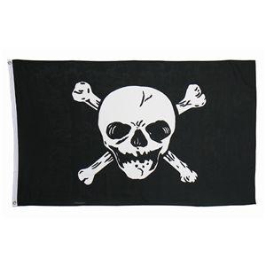 ハロウィンコスプレ 【Jolly Roger Flag】 フラッグ1枚入り 重量100g 〔イベント ライブ〕 - 拡大画像