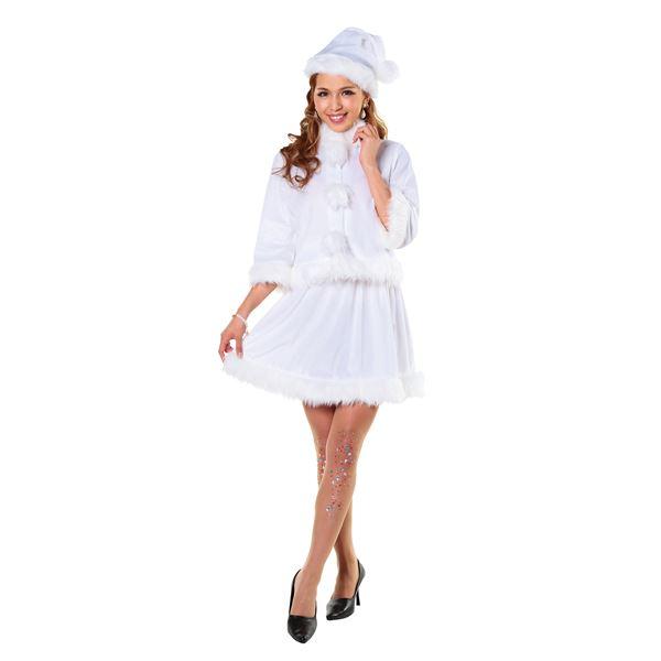 女性用サンタ衣装(白・ホワイト)ベイシックサンタ