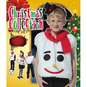 【クリスマスコスプレ 衣装】キッズモコモコスノーマン 4560320844310 (子供用) - 拡大画像