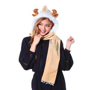 【クリスマスコスプレ 衣装】フードマフラー トナカイ 4571142469803 - 拡大画像