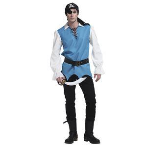 コスプレ衣装/コスチューム【メンズ】身長180cm迄ポリエステル『ファンタジーブルーパイレーツ』