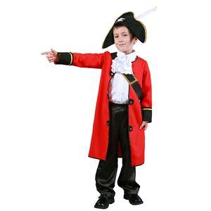 子供用 コスプレ衣装 【キッズキャプテン 120サイズ】 ドライクリーニング可 ポリエステル 〔ハロウィン〕