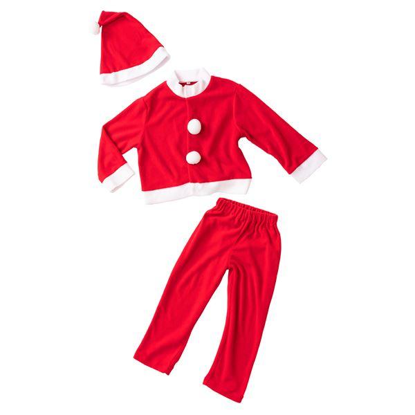 【クリスマスコスプレ 衣装】キッズサンタスーツ 120 (子供用)