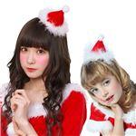 クリスマスコスプレ/衣装 【サンタ帽 ヘアピン】 ポリエステル 〔イベント パーティー〕