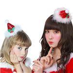 クリスマスコスプレ/衣装 【キラキラサンタ帽 ヘアピン】 ポリエステル 〔イベント パーティー〕