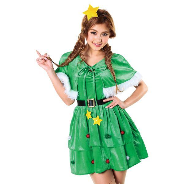 クリスマスツリー風ワンピース・ツリーケープガール