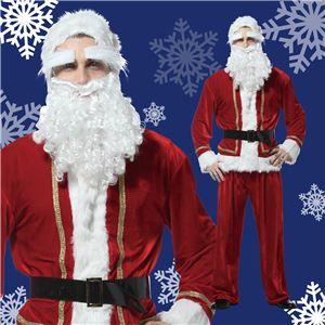 【クリスマスコスプレ 衣装】プレミアムサンタ メンズ - 拡大画像
