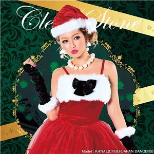 【クリスマスコスプレ 衣装】ベロアリボンサンタ - 拡大画像