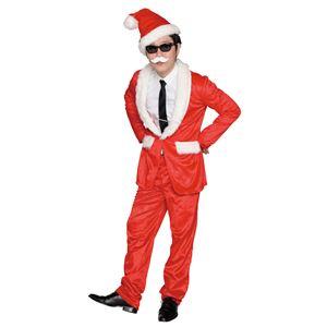 クリスマスコスプレ/衣装 【スタイリッシュサンタ】 メンズ180cm迄 ポリエステル 〔イベント パーティー〕