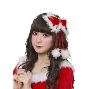 【クリスマスコスプレ 衣装】クリスタルリボンピンレッド - 拡大画像
